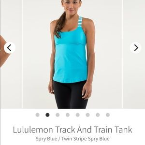 Lululemon track and train track-spry blue size 6